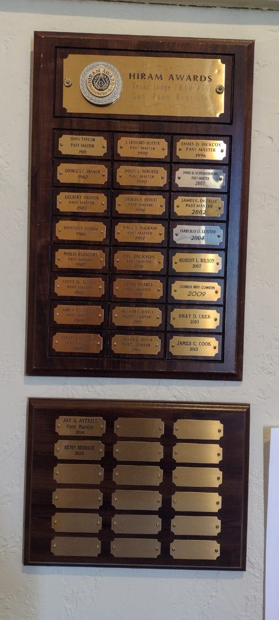 Image of Hiram Award